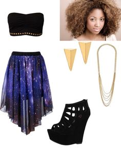 """""""Galaxy outfit"""" by jackielaguerre ❤ liked on Polyvore"""