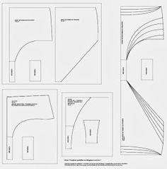 Moldes base, variantes, culotte y tanga.     Para descargar los moldes en PDF para imprimir   DESCARGAR