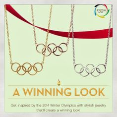#Olympic rings #necklace for #Sochi 2014 from @Emitations Jewelry www.thestyleref.com