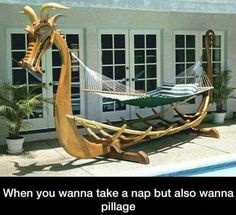 Viking Hammock   The Best Funny Pictures
