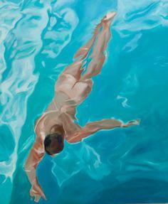 """Saatchi Online Artist jordan mejias; Painting, """"pool"""" #art"""