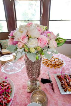 Bridal shower flower arrangement