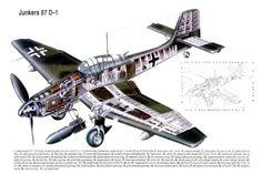 Junkers Ju87 D1Stuka cutaway
