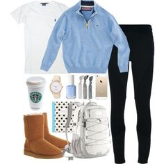 vineyard vines, polo and uggs. vineyard vines, polo and uggs. Adrette Outfits, Cute Lazy Outfits, Cute Outfits For School, Teen Fashion Outfits, Outfits For Teens, Casual Outfits, Fall College Outfits, Preteen Fashion, Preppy Mode