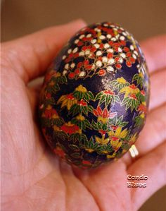 Condo Blues: Washi Paper Easter Egg. I'm a little late with the Easter egg thing but I love  eggs all year long