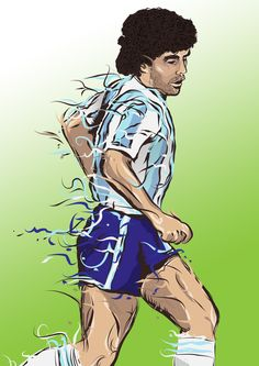 Football Ilustrations by Dominic Gould, via Behance