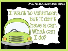 Many parents in low income schools would like to volunteer, but have difficulty with transportation. Visit this post for tips and tricks, including a free printable, to help you get started with Stay-At-Home Volunteers. Click here.