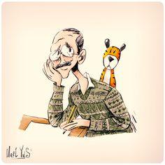dibujando dibujantes: Bill Watterson ~