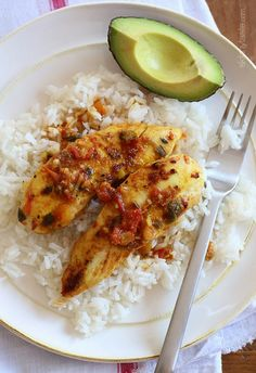Weeknight Skillet Sazon Chicken Tenders  - EASY chicken dinner my kids love!