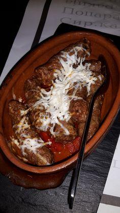 Leberkassemmel und mehr: Kebap bzw. Cevapcici im Restaurant Mala fabrika ukusa in Belgrad