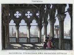 Venezia, Galleria Superiore dell Palazzo Ducale (National Library of Poland - 1847, lithography)