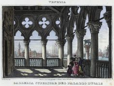 Venezia, Galleria Superiore dell Palazzo Ducale (National Library of Poland - 1847, lithography)