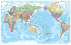 Hema - World Mega Map Laminated