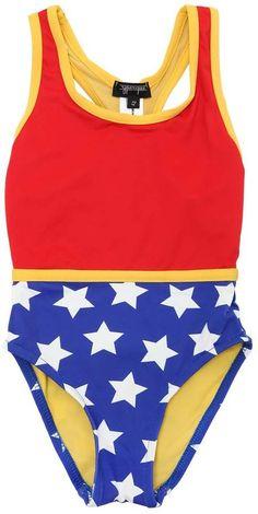 ef70d04970e8d Wonder Woman Lycra One Piece Swimsuit Baby Swimsuit, One Piece Swimsuit,  Toddler Swimsuits,