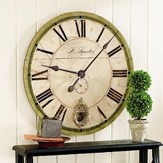 "Ballard Designs 18"" Sheffield Clock at HSN.com."