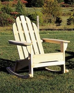 A Rocking Chair Getting Some Sun Rocking Chair Plans, Adirondack Rocking  Chair, Rocking Chairs