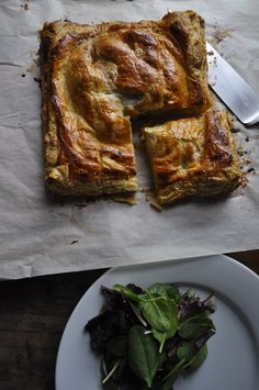 RUSTIC WINTER POTATO LEEK TART  Great hearty winter dinner served with a lightly dressed salad.