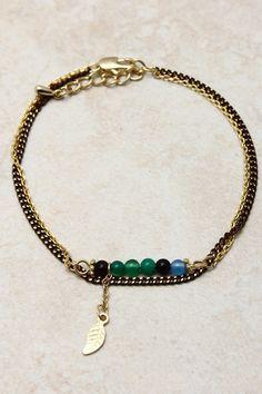 Paris Green Reese Bracelet on Emma Stine Limited