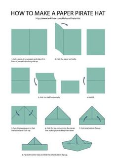 Make A Paper Hat - Fold the shape up so that it is. Cut along the lines that you drew. Make A Pirate Hat Pirate Hats Pirate Hat Crafts Pirate Hats Like step 5 fold up th. Pirate Hat Crafts, Pirate Hats For Kids, Pirate Day, Pirate Birthday, Pirate Theme, Pirates For Kids, Pirate Party Games, New Crafts, Crafts For Kids To Make