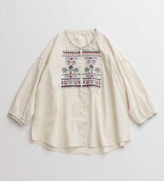 chambre de charme's embroidered blouse