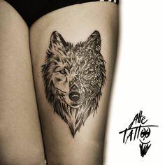 Image result for wolf mandala tattoo