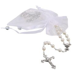 First Communion 6mm Glass Simulated Pearl Rosary - Made in Brazil * Check out the image by visiting the link.