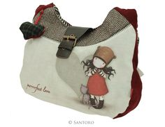 Gorjuss Slouchy Bag - Purrrfect Love