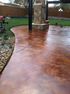 Acid stained patio can become your dream come true with http://www.customhomesbyjscull.com/