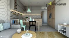 Kuchnia styl Skandynawski - zdjęcie od Marta Wanat Projektowanie wnętrz - Kuchnia - Styl Skandynawski - Marta Wanat Projektowanie wnętrz
