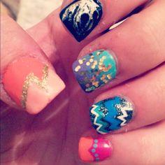 Redo of yesterday's nail art...