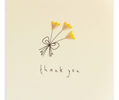 Pencil Shavings Cards – Thank You Flowers