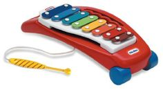 Little Tikes Tap A Tune Xylophone by Little Tikes. $17.99. Provides creative, cause and effect play. Sparks an early interest in music. Smooth rounded corners for safety – no sharp edges. This 8 key, 8 color keyboards introduces your child to music in fun and easy way. Cord attachment keeps the mallet from getting lost. From the Manufacturer                This 8 key, 8 color keyboards introduces your child to music in fun and easy way. Colored chimes produce a full octave of ...