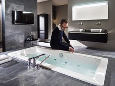 BATHROOM POETRY Inspiring discussions about style, aesthetics and the perfect designer bath. What Is Your Goal, Villeroy, Master Suite, Night Life, Bathtub, Wellness, Vacation, Luxury, Interior