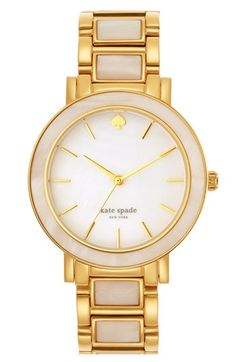 kate spade new york 'gramercy grand' mother-of-pearl bracelet watch, 38mm available at #Nordstrom