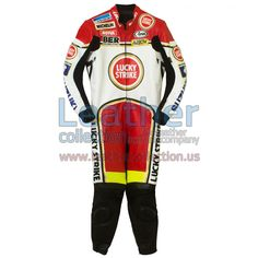 Kevin Schwantz Lucky Strike Suzuki GP 1993 Leather Suit, Kevin Schwantz wore the especially designed leather suit in 1993 when he won the 500cc class of the World Championship with Suzuki