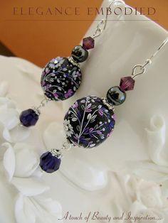 FREE SHIPPING: Very elegant black/purple by EleganceEmbodied