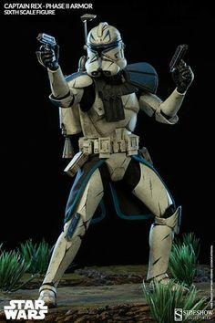 Captain Rex | Figure | Phase II Armor | STAR WARS | STAR WARS : CLONE WARS | Sideshow Collectibles Figures