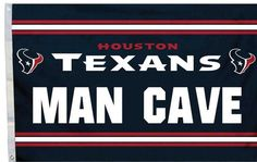 Houston Texans Man Cave Flag 3x5 FT Banner 100D Polyester NFL flag ,