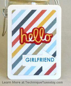 Hello Girlfriend Card
