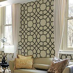 Coco Trellis Allover Stencil  See more Geometric/Allover Stencils: http://www.cuttingedgestencils.com/wall-stencils-geometric-stencils.html  #geometric #allover #stencils