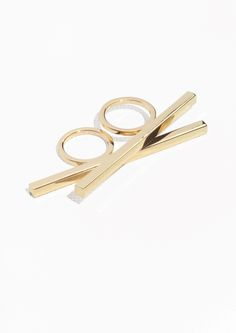& Other Stories | Square Bar Double Ring