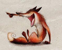 Haha by Skia - the fox falls laughing Haha . Haha by Skia - the fox falls laughing Cute Drawings, Animal Drawings, Lapin Art, Fox Illustration, Fox Art, Funny Art, Whimsical Art, Cute Art, Illustrators