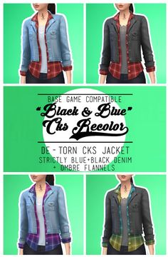 CKS DENIM JACKET RECOLOR FOR BASE GAME at Imtater via Sims 4 Updates