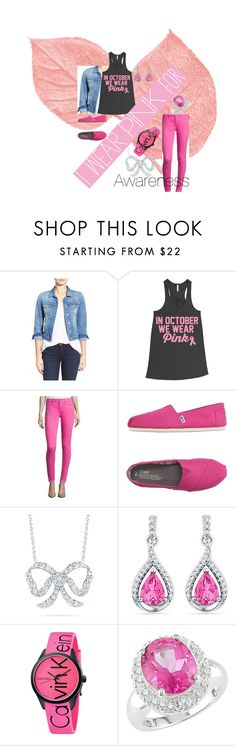 """awareness"" by zlidia ❤ liked on Polyvore featuring Mavi, TOMS, Roberto Coin, Calvin Klein, Miadora and IWearPinkFor"