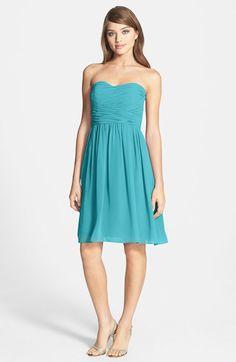 Donna Morgan Donna Morgan 'Sarah' Strapless Ruched Chiffon Dress available at #Nordstrom