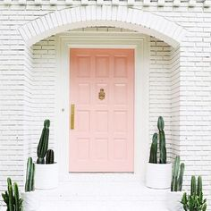Beautiful Blush - 16 Times A Painted Door Changed Everything - Photos