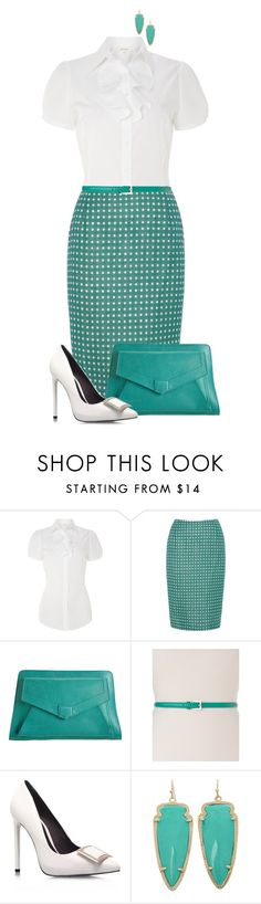 """""""""""Trust yourself. You know more than you think you do."""" ― Benjamin Spock"""" by saint-mercy ❤ liked on Polyvore featuring Dickins & Jones, Proenza Schouler, KG Kurt Geiger, Kendra Scott and plussize"""