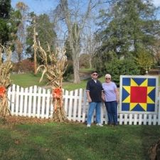Our AQT Sawtooth Star located at our headquarters, The Bryan House, located in Rutledge, TN part of Grainger County.