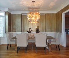 Oxidized Metallic Drip Finish by Tobey Renee Sanders of FauxDecor | Formal Dining Room Wall Treatment | Modern Masters Metallic Paints