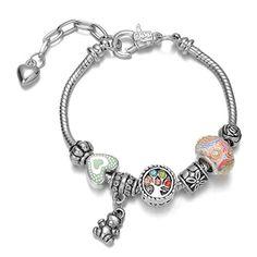 "Onnea® ""Love Family"" Words Family Tree, Heart, Bear, Bead, Dainty Charms Bracelets Onnea http://www.amazon.com/dp/B011UDZCRG/ref=cm_sw_r_pi_dp_pRnbxb1WR95VP"